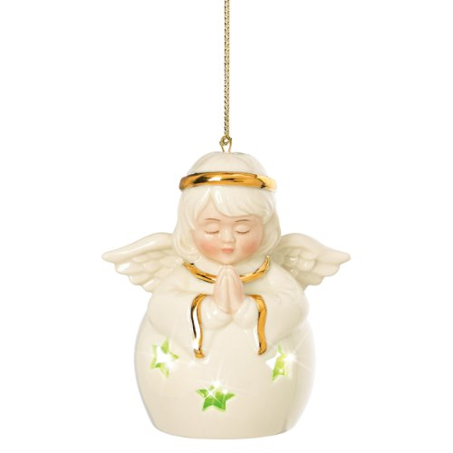 Lenox Pierced Lit Angel Ornament