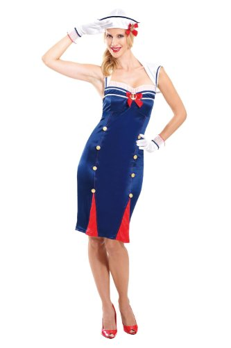 Sailor Pin up Costume - Adults - Small