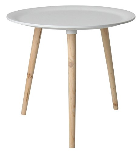 Retro-Beistelltisch-rund-48-cm-wei-Holz-Tisch-Couchtisch-Nachttisch-Sofatisch