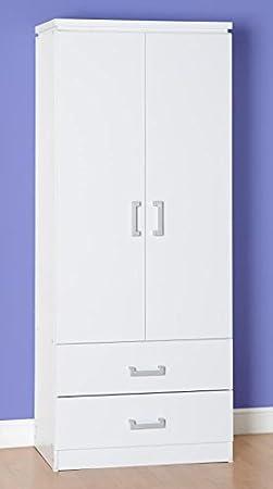 2 para puerta armario 2 en color blanco