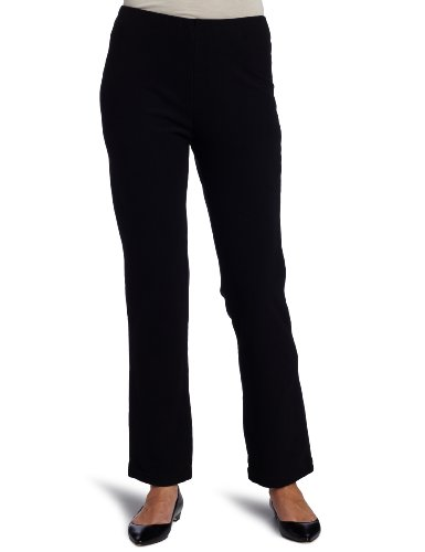 Mod-O-Doc Women's Stretch Knit Twill Cigarette Pant, Black, Medium