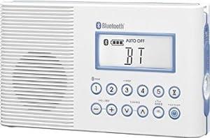 Sangean H202 Shower Radio with Bluetooth (White)