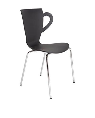 TOP AMBIENTES Chair Set van 4 zwart