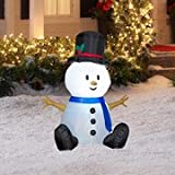 3.5' Tall Airblown Snowman Christmas Inflatable