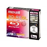 maxell BE50VWPA.3J �^��p�u���[���C�f�B�X�NBD-RE�Ђ�т뒴��[�x�� 50GB 3����