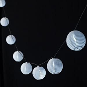 10 LED Solar Chinese Lantern Fairy Lights by Lights4fun from Lights4fun
