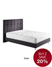 Modern Button Bedstead - Steel