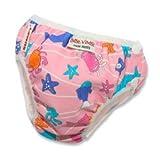 Small: Imse Vimse Pink Sea Animals Swim Diaper (11-17 lbs)