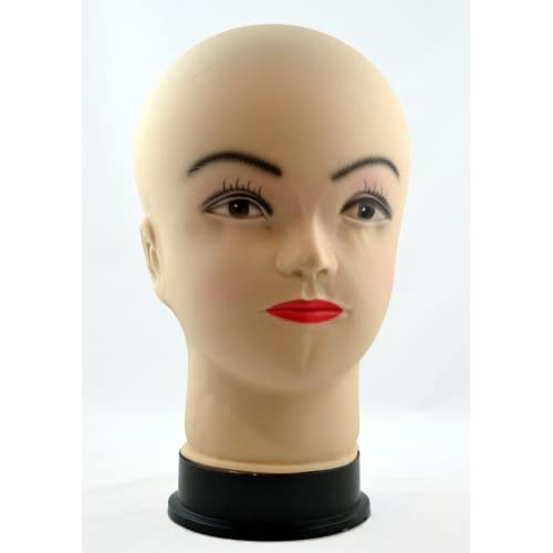 Female Bald Mannequin Wig Display Head