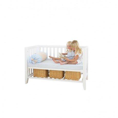 Alfred & Compagnie - Lit bébé banquette bois massif 60x120