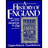 History of England: Prehistory to 1714, Vol. I (013390394X) by Roberts, Clayton