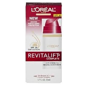 (史低)L'Oreal Paris RevitaLift Day欧莱雅1.7oz复颜抗皱SPF30防晒乳液SS后$9.90