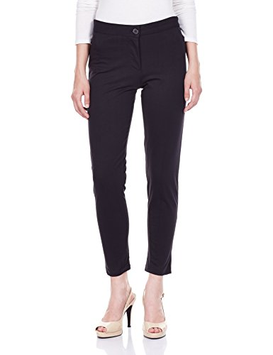 Jealous 21 Women's Straight Pants and Capris (JX0454_Black_30)