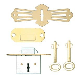 plete Roll Top Desk Lock Set Brass Cabinet And