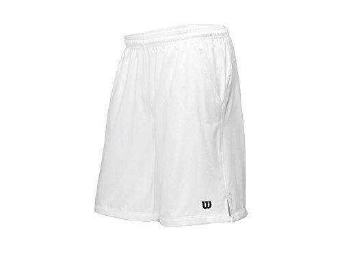 Wilson - Shorts uomo Rush Tennis Woven, lunghezza ca. 25 cm, Bianco (bianco), XXL