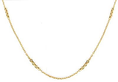 Carissima Gold 9ct Yellow Gold Diamond Cut Rings Trace Chain Necklace of 61cm/24""