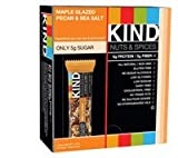 Kind Nuts and Spices Bars Maple Glazed Pecan & Sea Salt -- 12 Bars