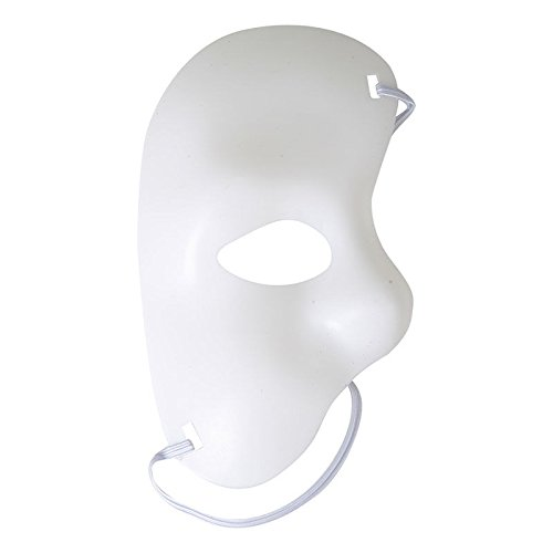 [Sey's Toy - Phantom Of The Opera Masquerade Fancy Half Face Mask Theatre Drama Halloween / White] (Dog Phantom Of The Opera Costume)