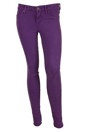 Rich u0026 Skinny Womens Purple Colored Denim Skinny Stretch Jeans 32 | Amazon.com