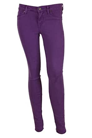 Rich u0026 Skinny Womens Purple Colored Denim Skinny Stretch Jeans 32 | Amazon.com