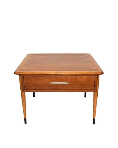 Uptown Down Vintage Mid-Century Side Table with Drawer by Lane Furnishing