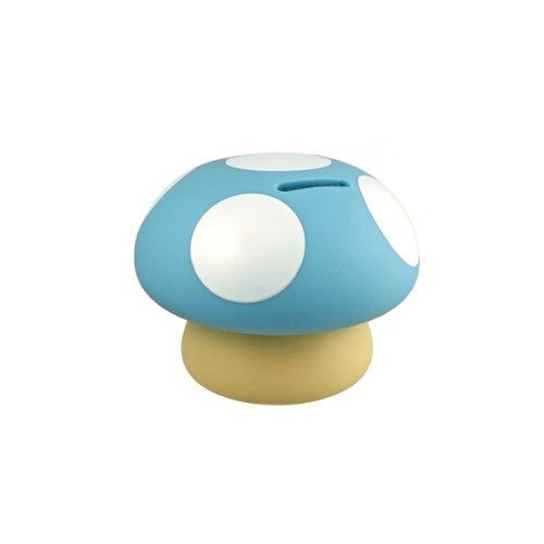 Streamline Mushroom Coin & Money Bank, Blue Bank