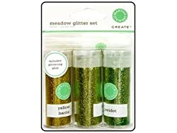 Martha Stewart Glitter Set w/Glue Meadow