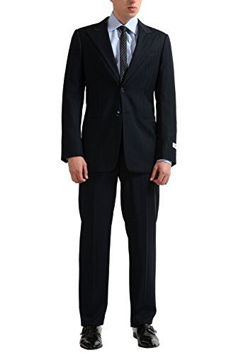 Armani-Collezioni-Mens-Wool-Two-Button-Striped-Suit-US-38-IT-48
