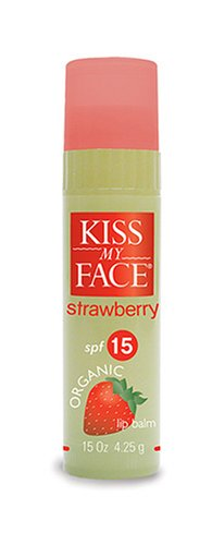 Kiss My Face Organic Lip Balm, Strawberry SPF 15, .15 oz