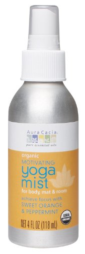 Aura Cacia Organic Body, Mat And Room Yoga Mist, Motivating Sweet Orange And Peppermint, 4 Fluid Ounce $9.99