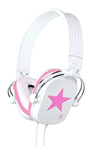Urbanz STARZ Foldable Fashion Headphones (Pink)