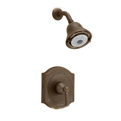 American Standard T415501.224 Portsmouth Shower Only Trim Kit with Square Escutcheon, Oil Rubbed Bronze (American Standard Trim Kit Bronze compare prices)