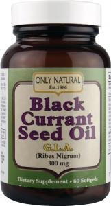 Only Natural Black Currant Seed Oil GLA (300mg, 60 Softgels) by Only Natural