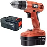 BLACK & DECKER EPC18CA 18V Cordless Drill Driver -2 x 18V 1.2Ah Detachable Battery