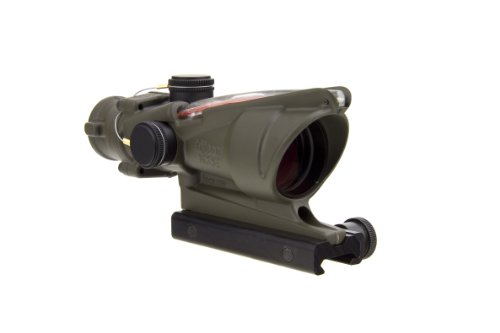 Acog Ta31-D-100309 4X 32 Dual Illuminated Red Chevron 0.223 Bac Reticle Scope, Od Green