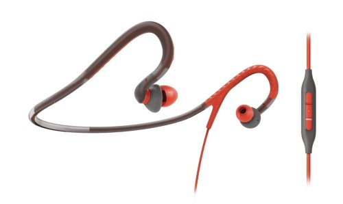 Philips Shq4207/28 Sport Action Fit Neckband Headset, Orange/Gray