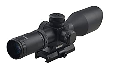 Tactical Compact Rifle Scope 2.5-10X40 with Side R/G/B Illumintation and Quick Detach Mount Integral Sunshade from Fsi