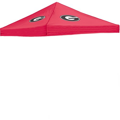Georgia Logo Canopy Top 10' X 10' Camping Tailgating Weather Sheltered Red front-1071116