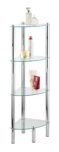 Exclusive Household and Bath Corner Shelf, Model Yago, 4 Tier