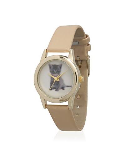 Olivia Pratt Women's 13656 Kitten Beige/White Faux Leather Watch