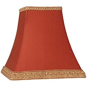 Rust Square Sided Lamp Shade 5x10x9 (Spider) - Lampshades
