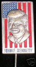 CAMPAIGN POLITICAL PIN BUTTON JOHN JFK KENNEDY
