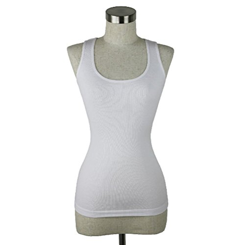 Ribbed Seamless Tank Top Stretch Racer Back T-Shirt Workout Yoga Pain Camisole