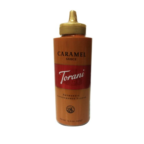 Torani Caramel Sauce, 16.5 Oz Squeeze Bottle, New Packaging front-229761