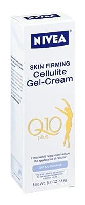 Nivea Skin Firming Cellulite Gel-Cream Q10 Plus - Q10 & L-Carnitine 6.8OZ (Pack of 6)