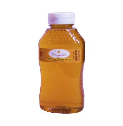 Raspberry Honey - Organically Flavored Raw Honey - Squeeze Bottle (Net Wt 16 Oz)