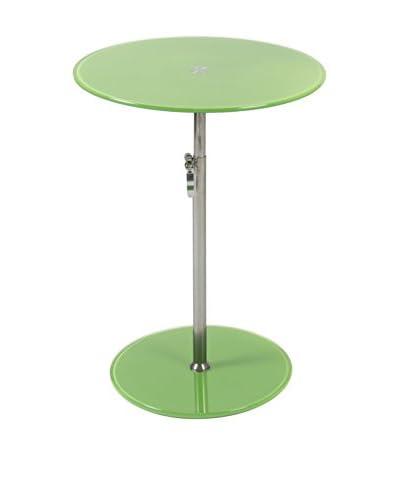 Eurostyle Radinka Round Glass Table, Green