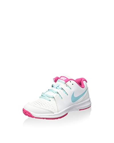 Nike Zapatillas Jr Vapor Court Gs Blanco / Azul Celeste