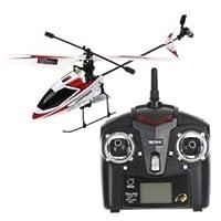 4CH 2.4GHz Mini Radio Single Propeller RC Helicopter Gyro V911 RTF Red & White by WL