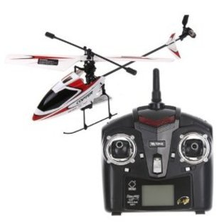 4CH 2.4GHz Mini Radio Single Propeller RC Helicopter Gyro V911 RTF Red & White
